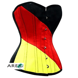 German Flag Satin Corset