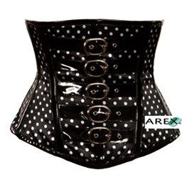 Underbust Polka Dots With PVC Corset