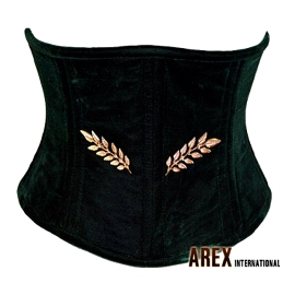 Dark Green Velvet Waist Cincher