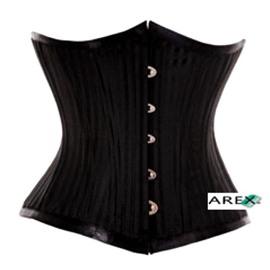 Black stripe underbust corset