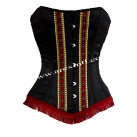 Satin Corset with Fril